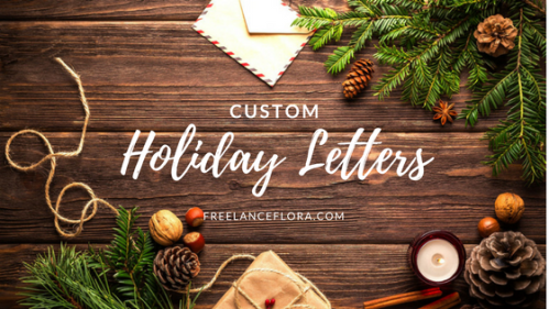 custom holiday letter
